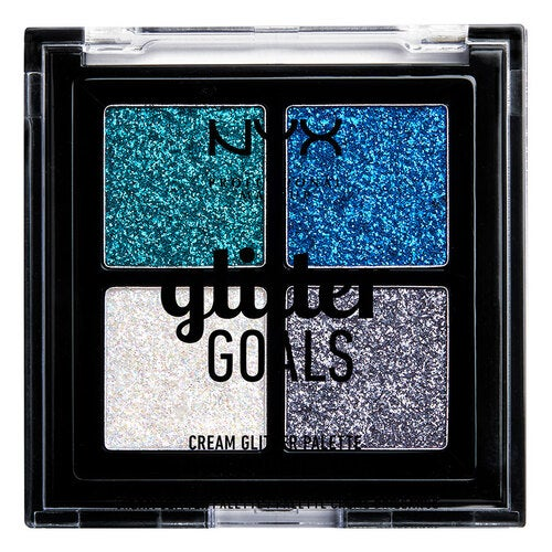 NYX Professional Makeup Glitter Goals Cream Quad Palette