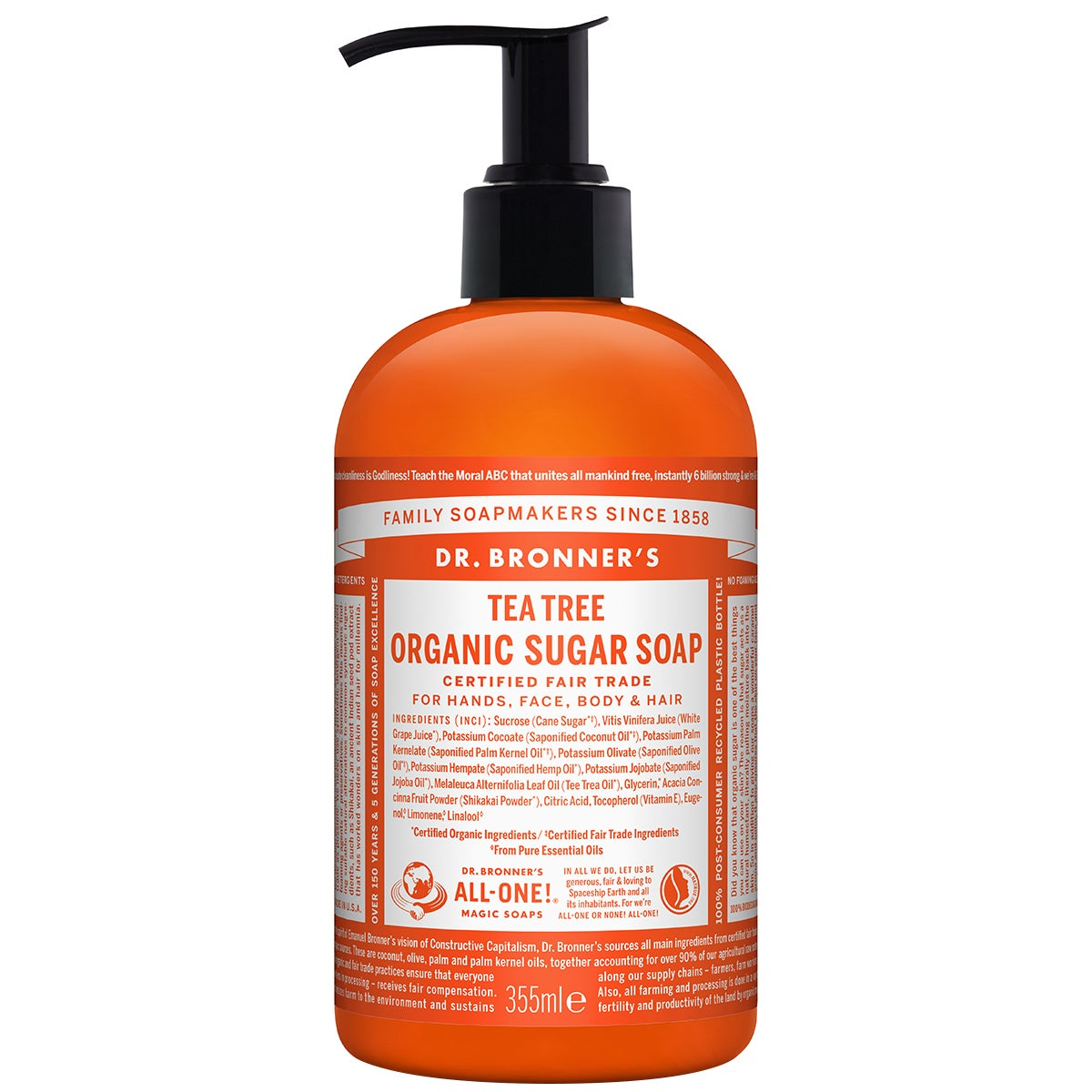 Dr. Bronner's Organic Hand & Body Shikakai Soap Tea Tree
