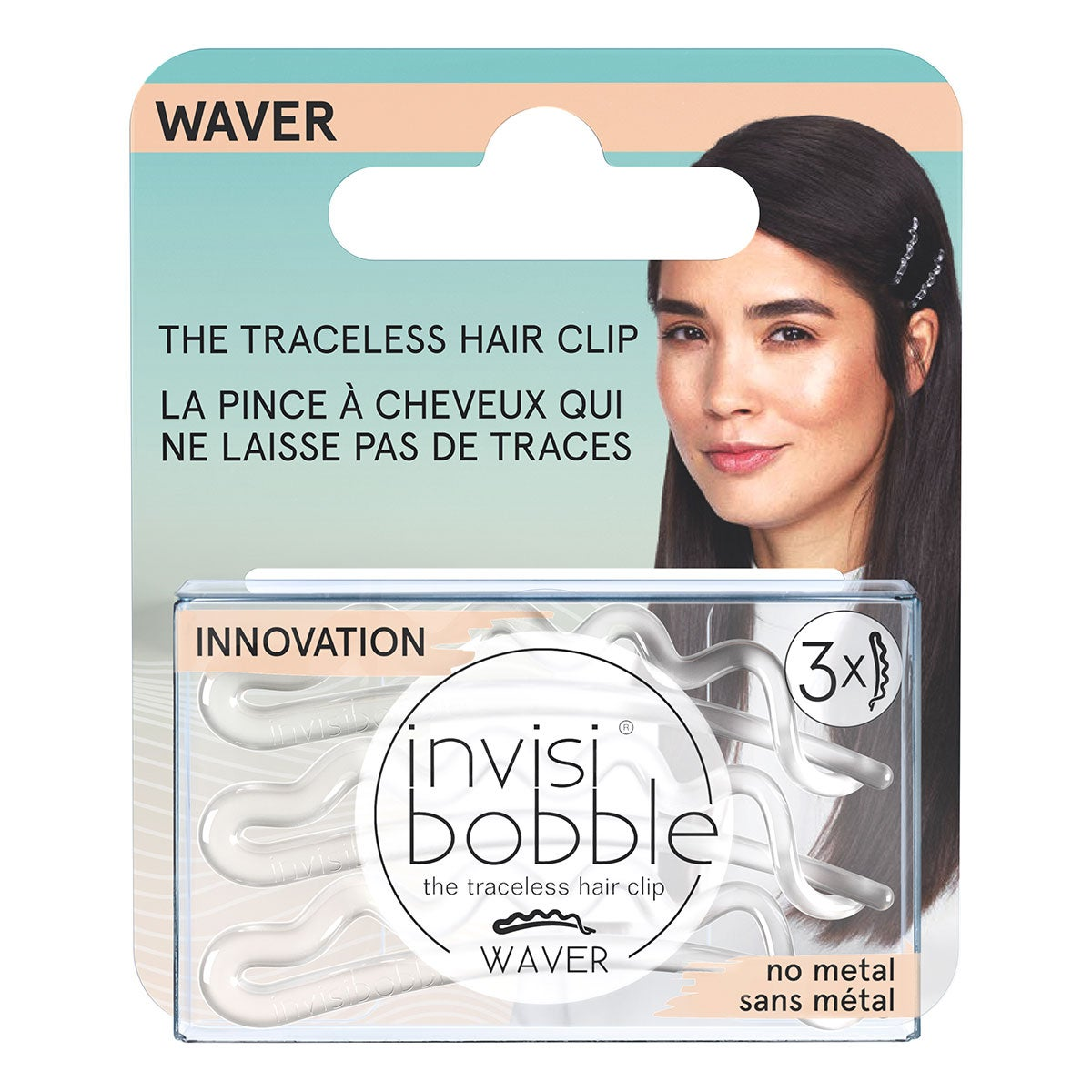 Invisibobble Waver Crystal Clear Hanging Pack