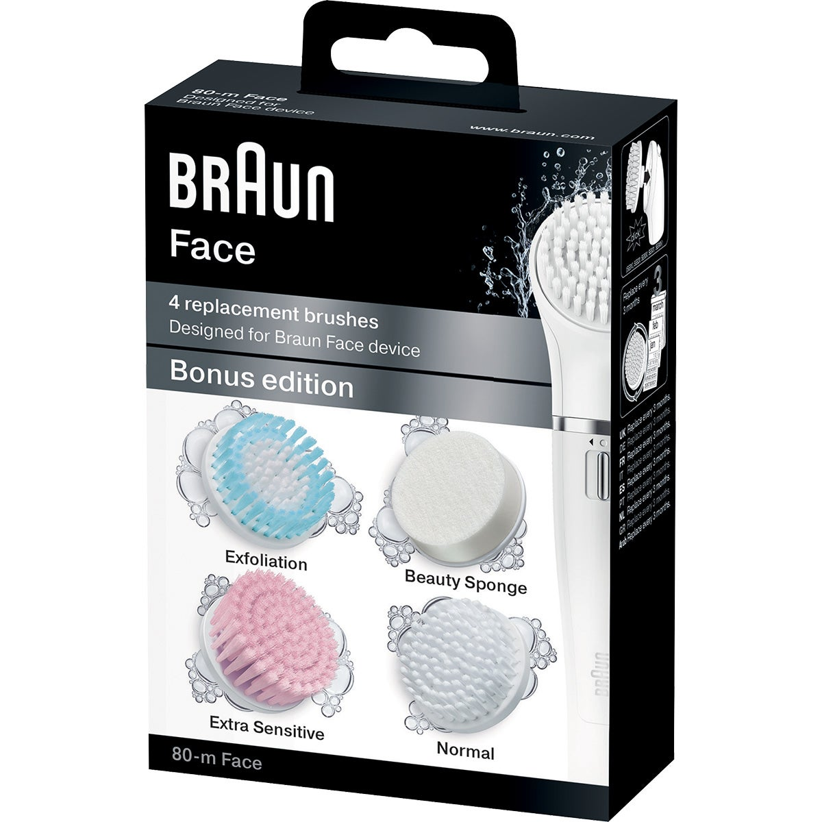Braun Face Brusches Refill For Face Device