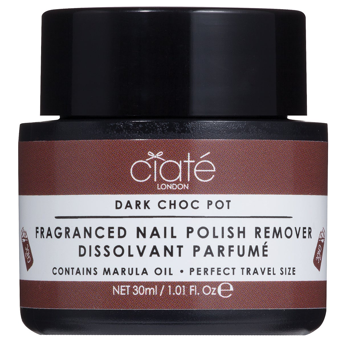 Ciaté Fragranced Nail Polish Dip-In Remover, Dark Chocolate