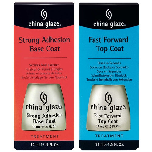 China Glaze China Glaze Fast Forward Top Coat + Base Coat