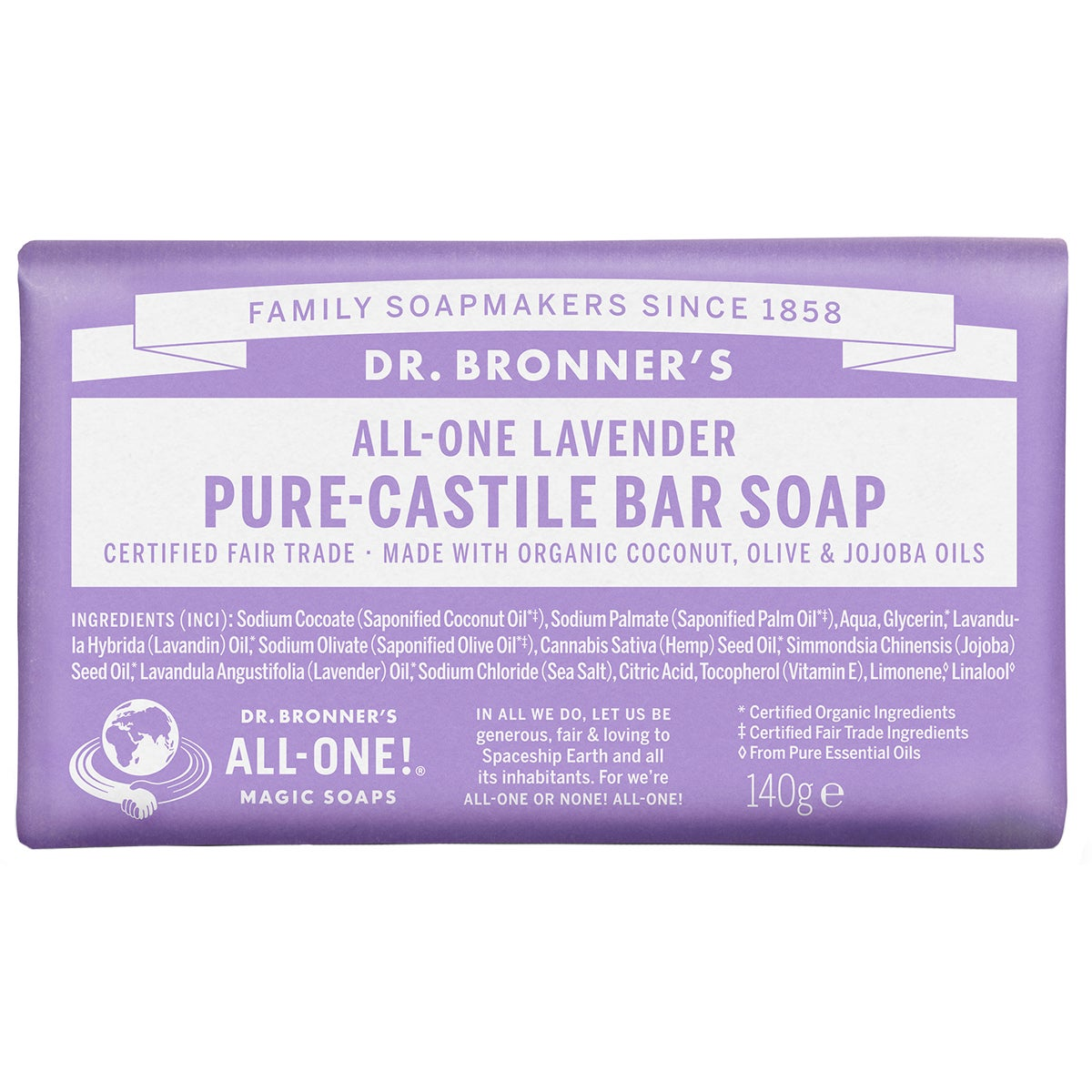 Dr. Bronner's Magic Soaps All-One Hemp Lavender
