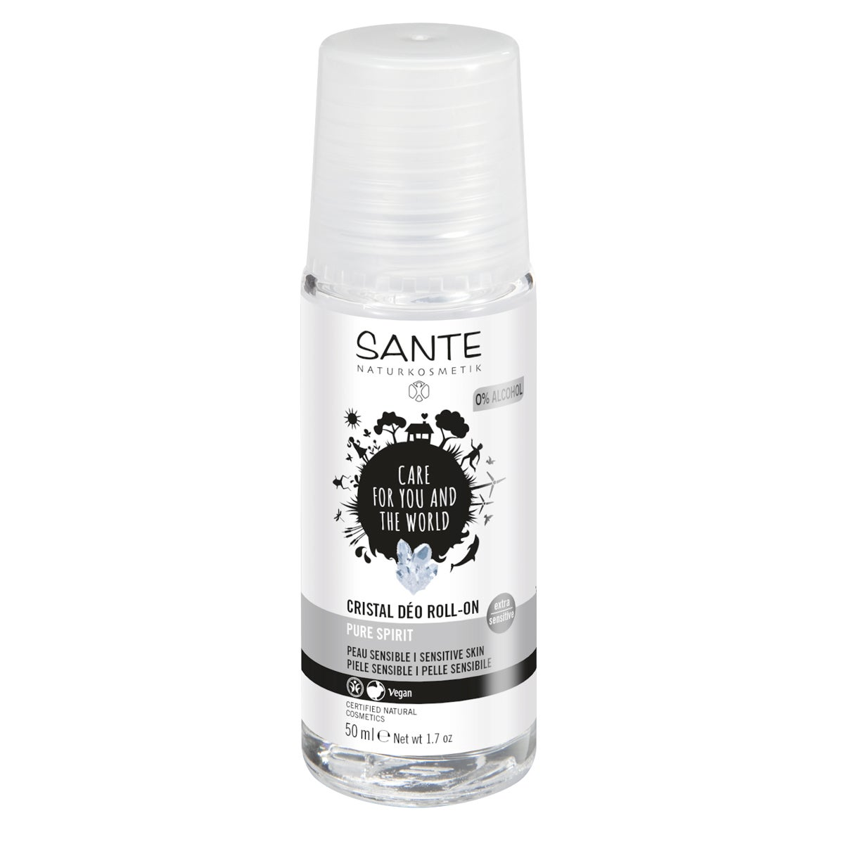 Sante Crystal Roll-on Deodorant - Pure Spirit