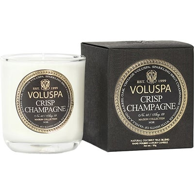 Voluspa Coconut Wax Blend Perfumed Candle, Crisp Champagne