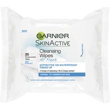 Garnier Cleansing Wipes All Fresh Normal To Combination Skin